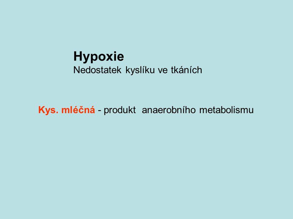 Hypoxie Nedostatek kyslíku ve tkáních