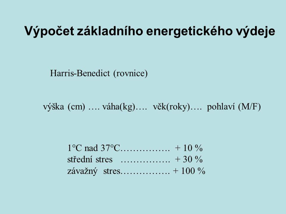 Výpočet základního energetického výdeje