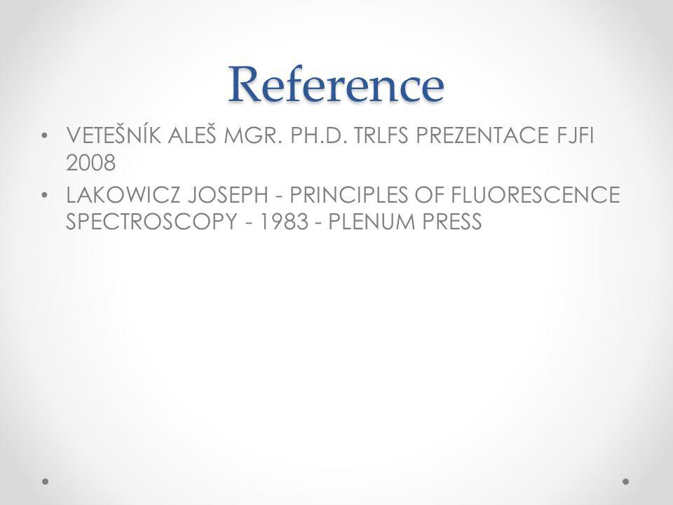 Reference VETEŠNÍK ALEŠ MGR. PH.D. TRLFS Prezentace FJFI 2008