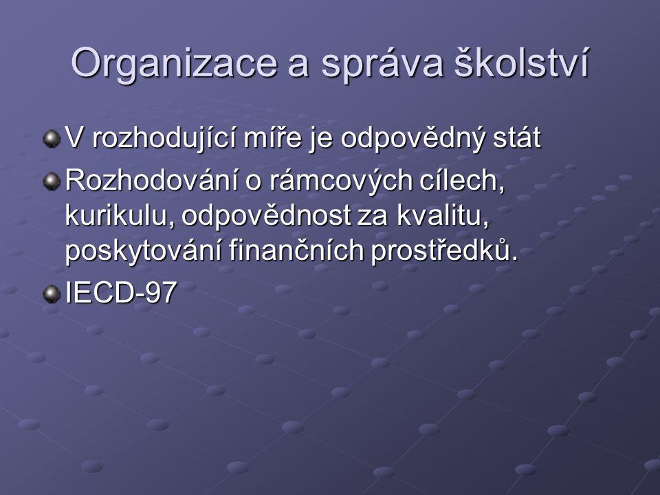 Organizace a správa školství