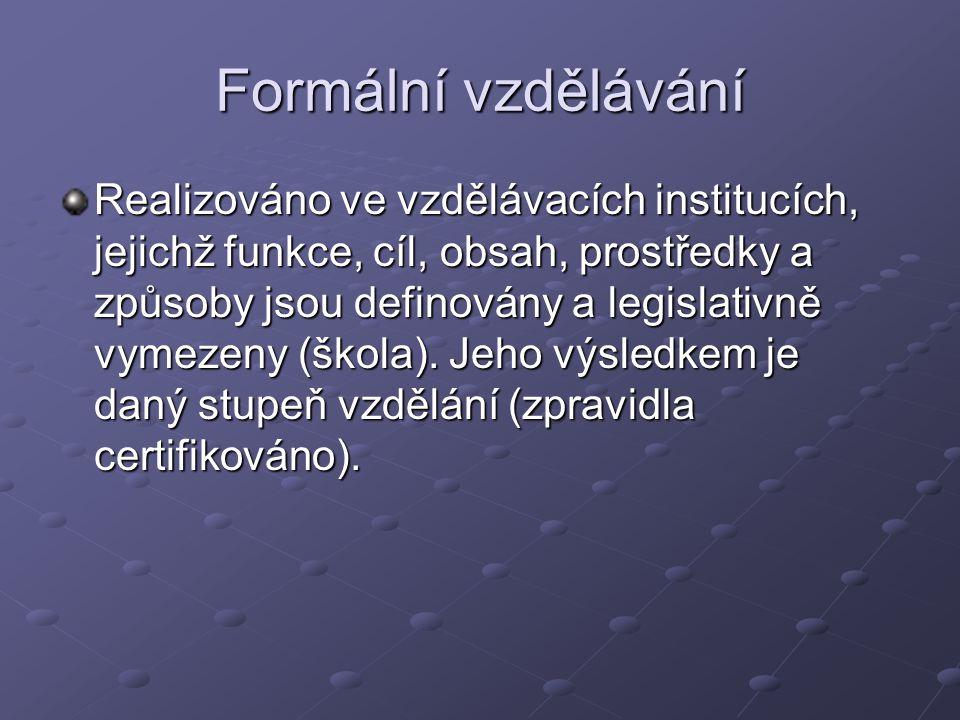 Formální vzdělávání