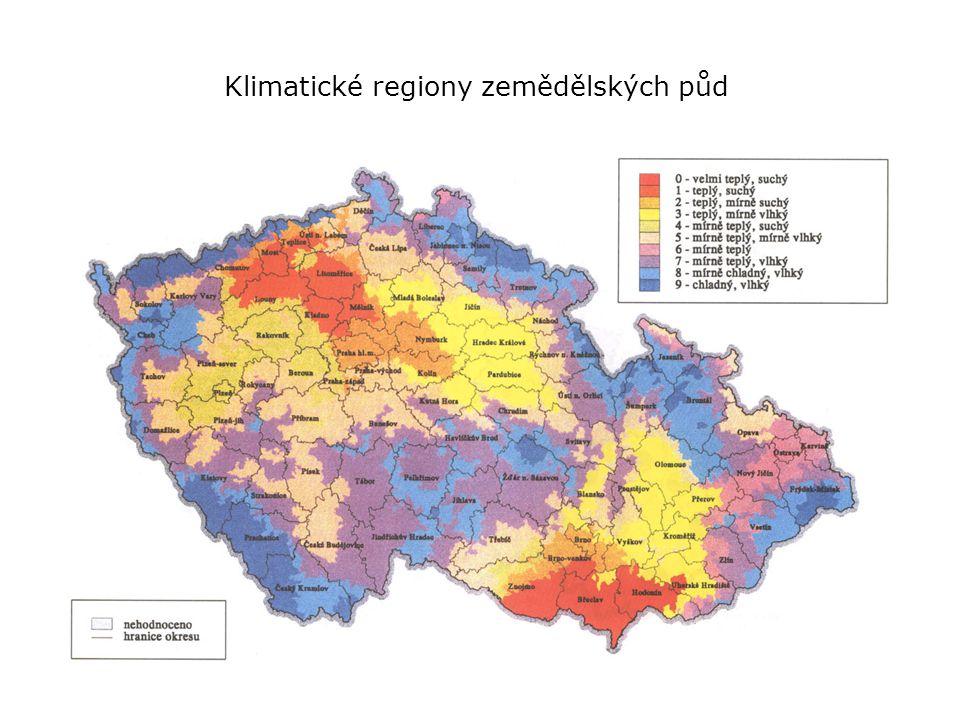 Klimatické regiony zemědělských půd