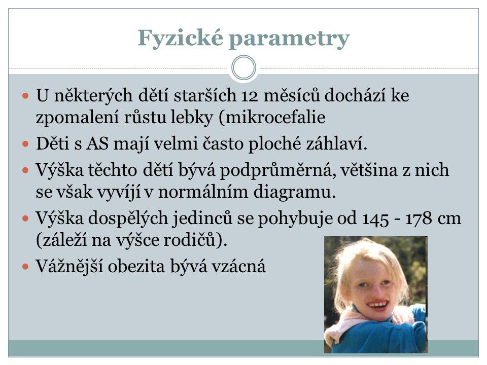 Fyzické parametry U některých dětí starších 12 měsíců dochází ke zpomalení růstu lebky (mikrocefalie.