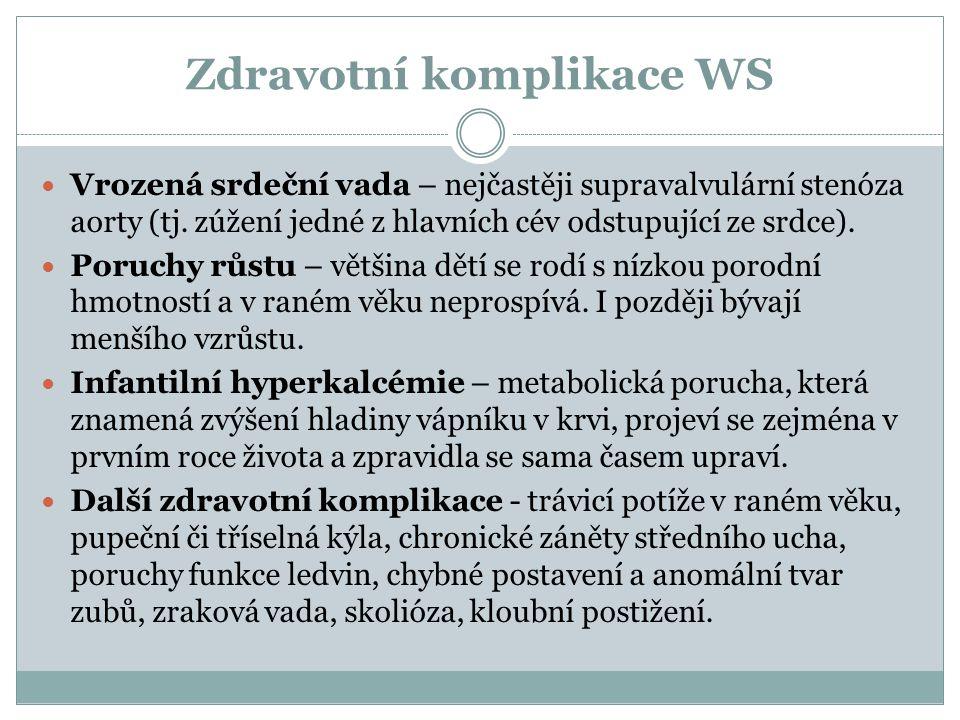 Zdravotní komplikace WS