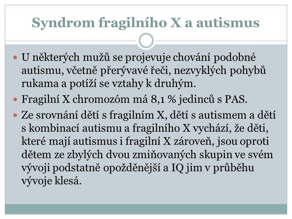 Syndrom fragilního X a autismus