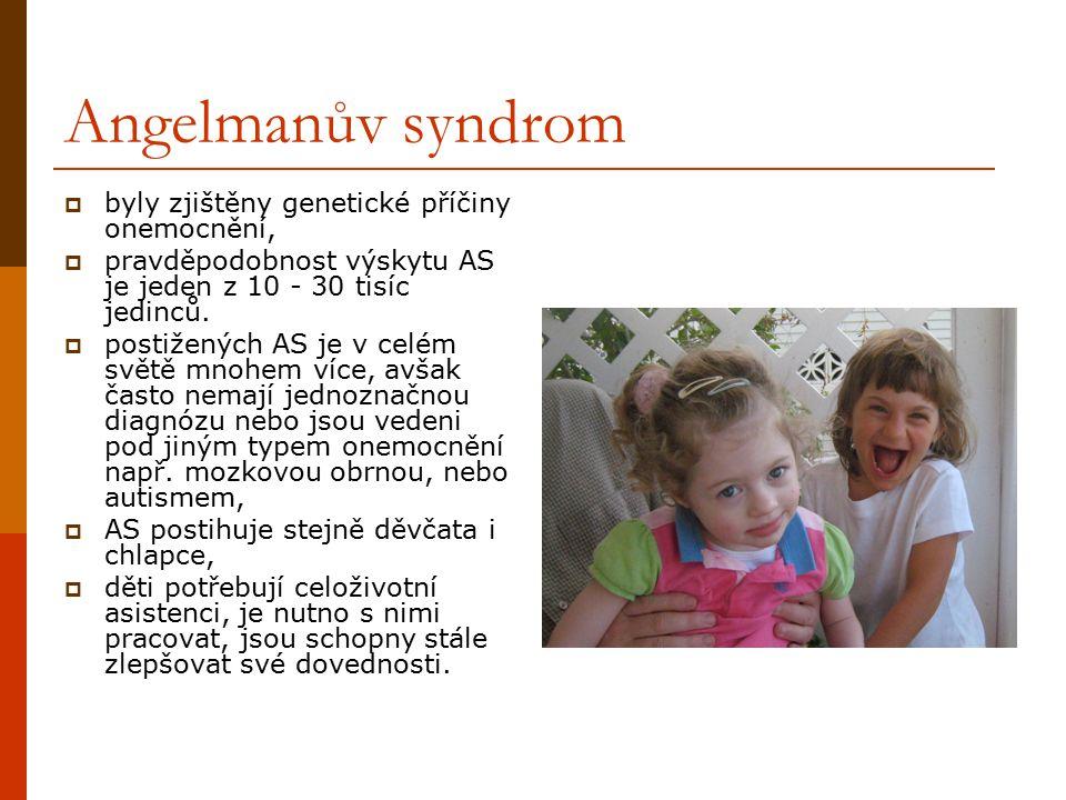 Angelmanův syndrom byly zjištěny genetické příčiny onemocnění,