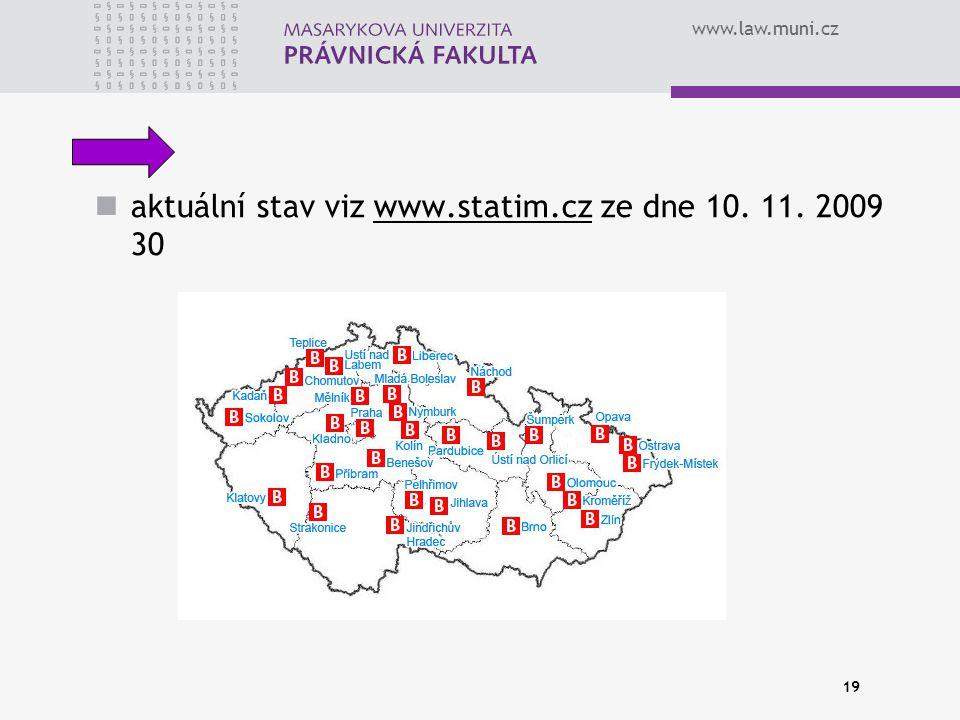 aktuální stav viz www.statim.cz ze dne 10. 11. 2009 30