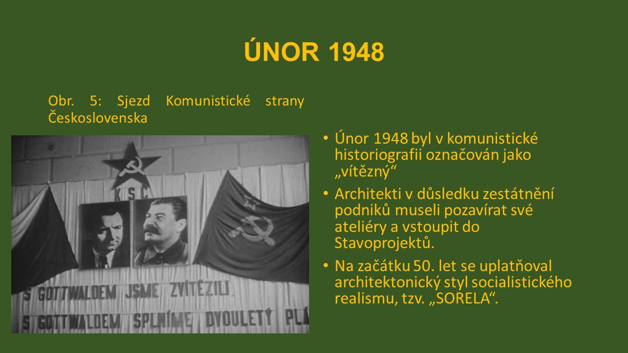 """ÚNOR 1948 Obr. 5: Sjezd Komunistické strany Československa. Únor 1948 byl v komunistické historiografii označován jako """"vítězný"""