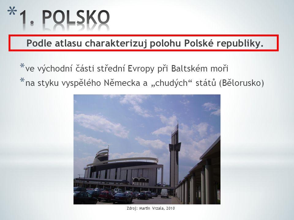 Podle atlasu charakterizuj polohu Polské republiky.