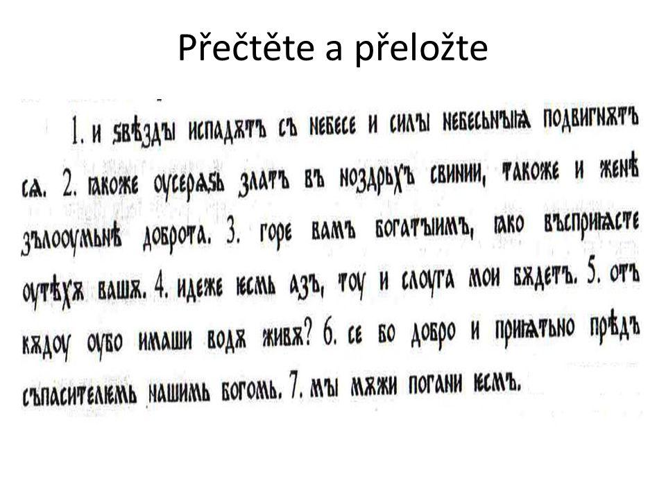 Přečtěte a přeložte