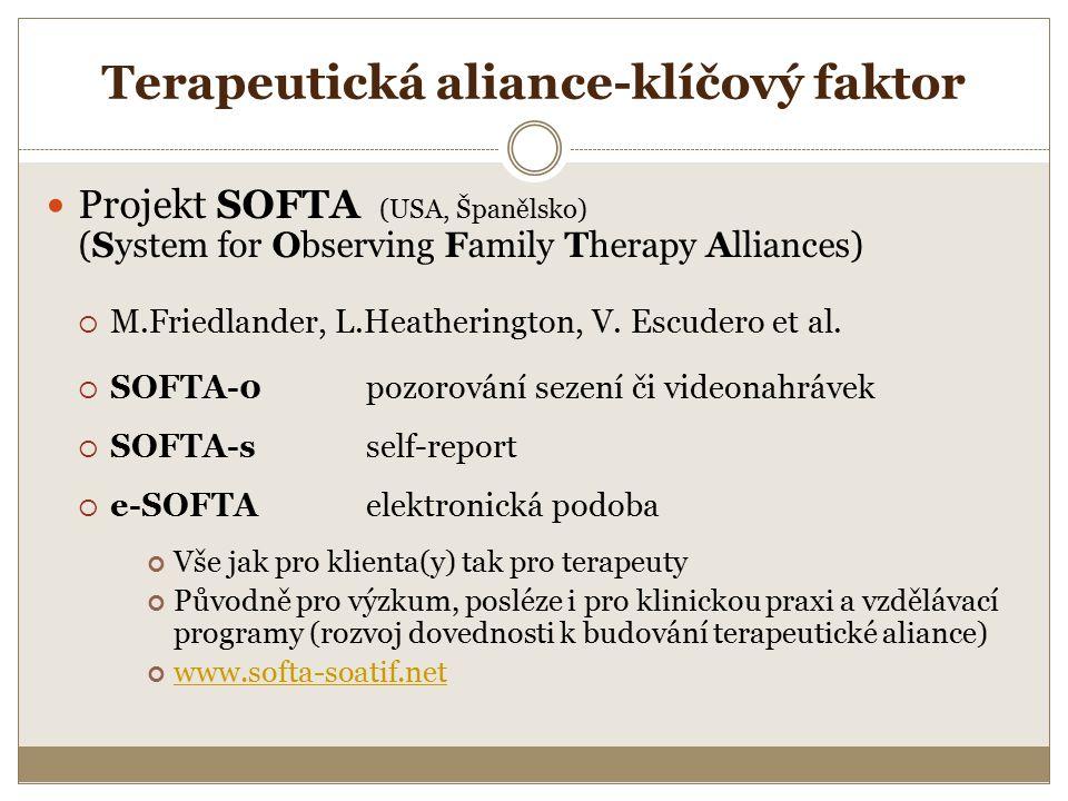 Terapeutická aliance-klíčový faktor