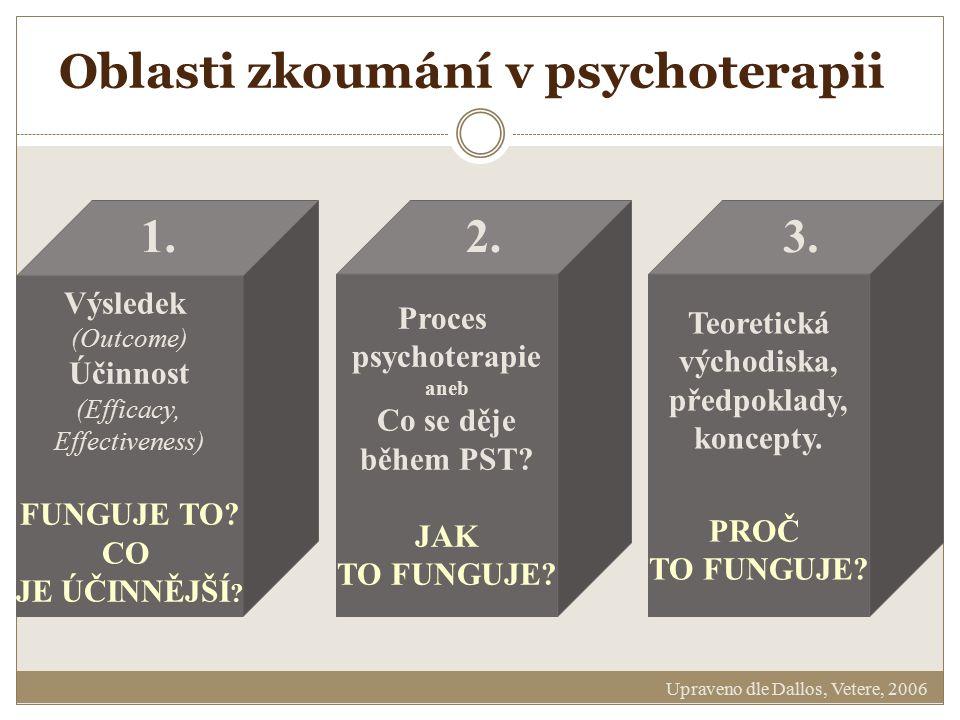 Oblasti zkoumání v psychoterapii