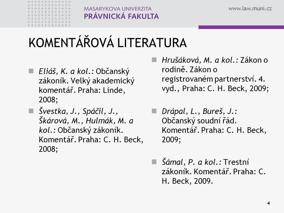 KOMENTÁŘOVÁ LITERATURA