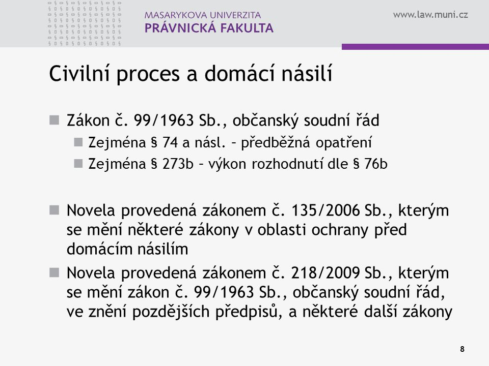 Civilní proces a domácí násilí