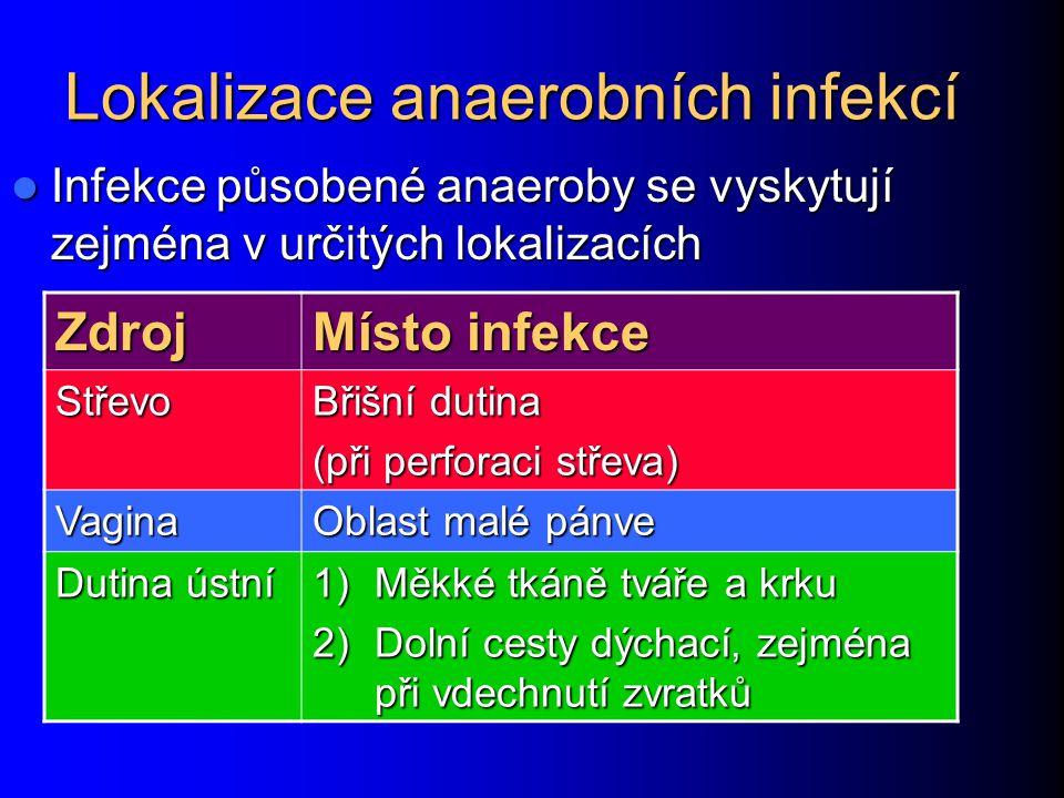 Lokalizace anaerobních infekcí