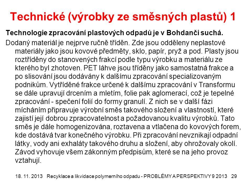 Technické (výrobky ze směsných plastů) 1