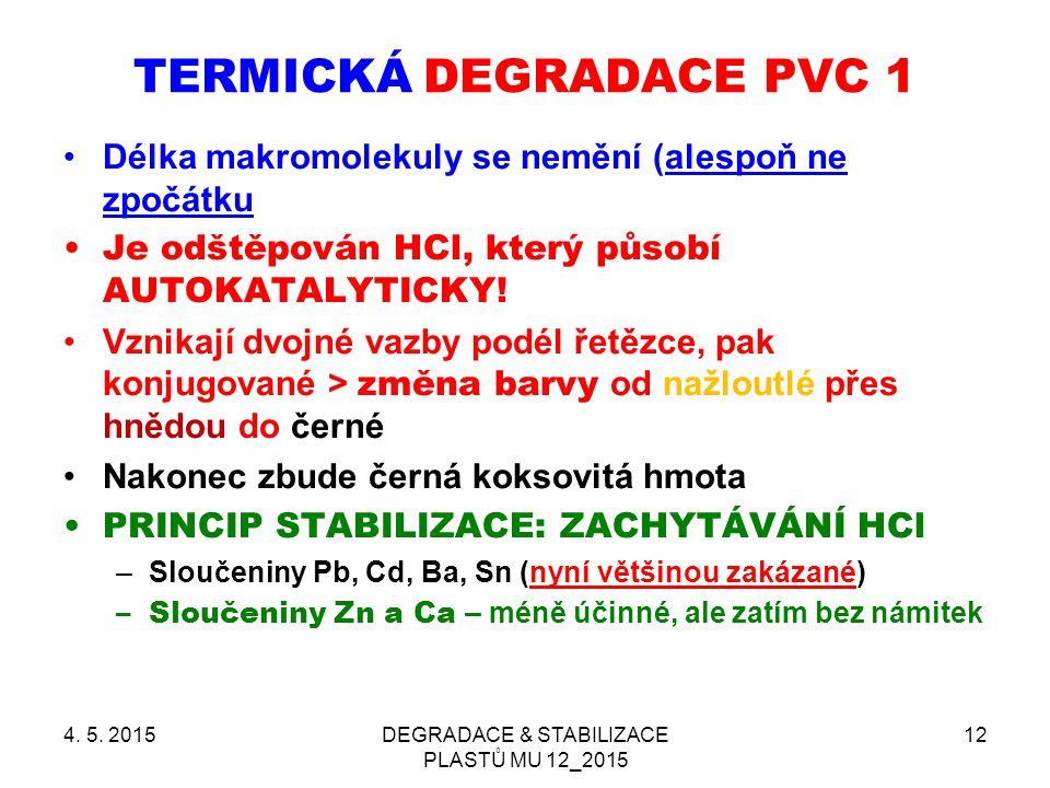 TERMICKÁ DEGRADACE PVC 1