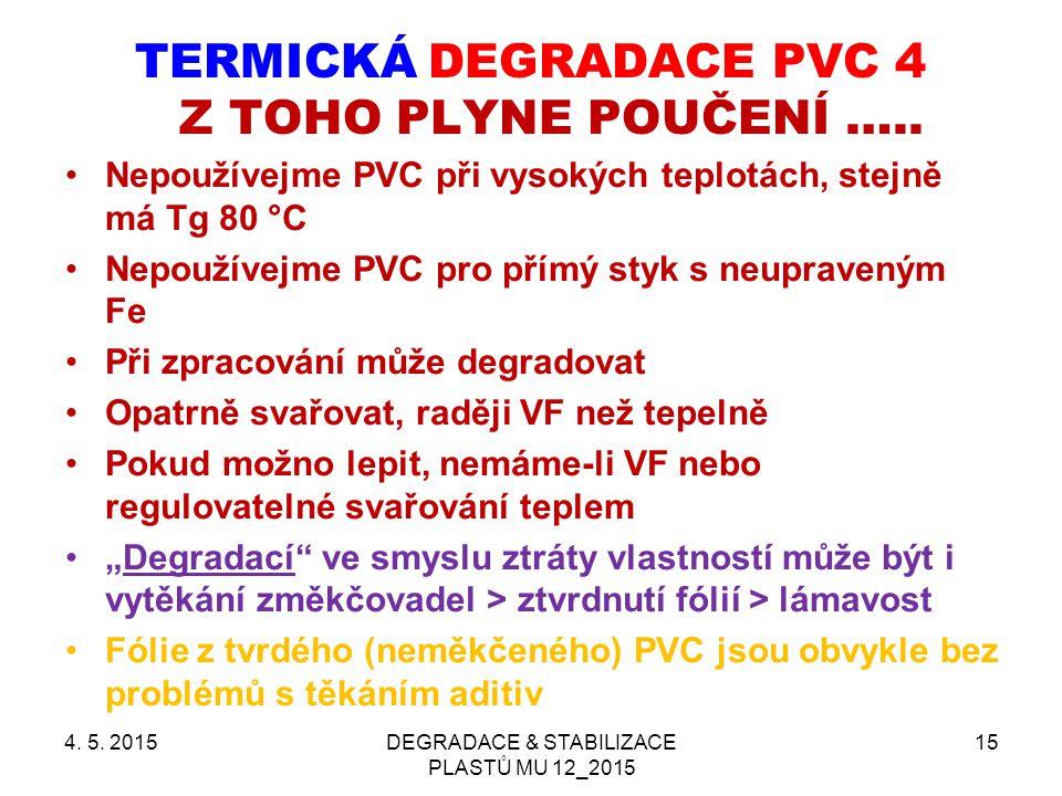 TERMICKÁ DEGRADACE PVC 4 Z TOHO PLYNE POUČENÍ …..