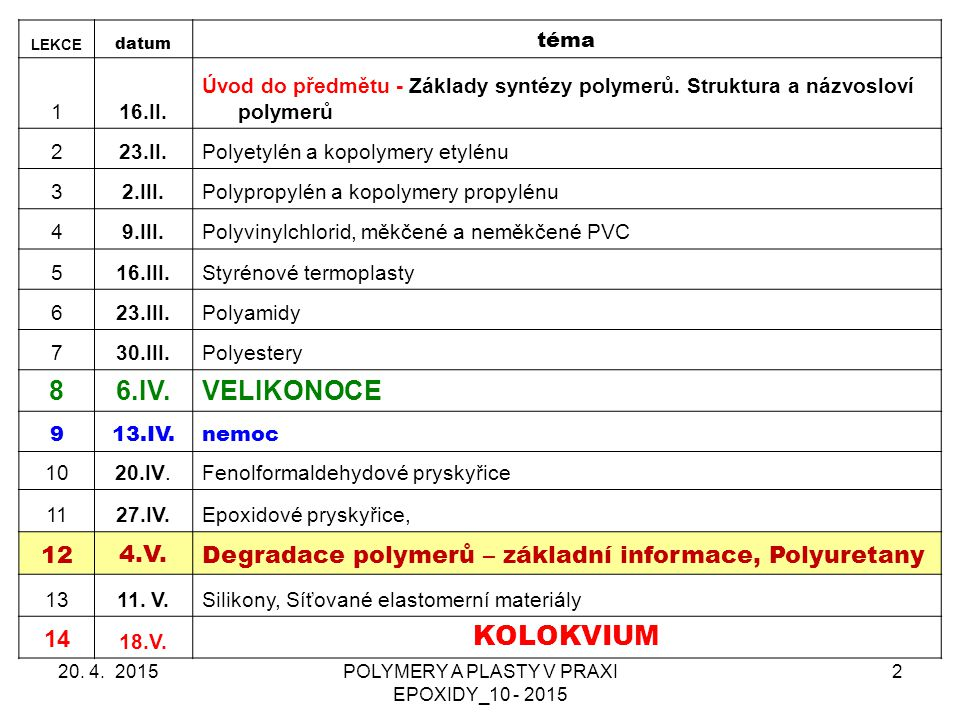 POLYMERY A PLASTY V PRAXI EPOXIDY_10 - 2015