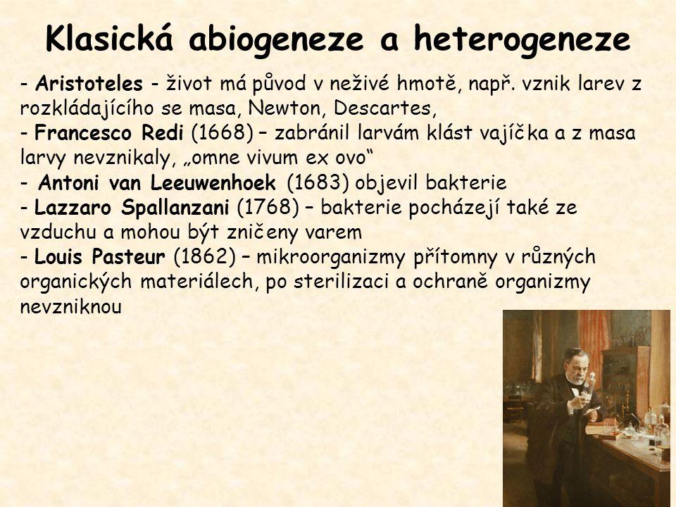 Klasická abiogeneze a heterogeneze