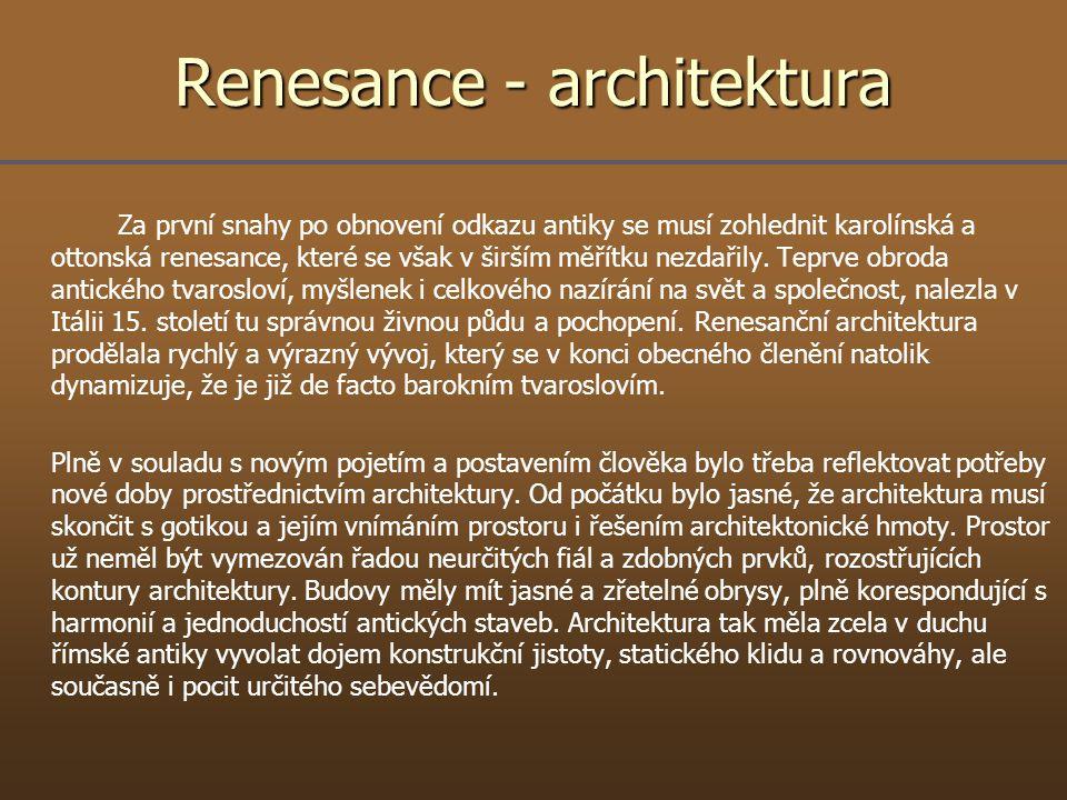 Renesance - architektura