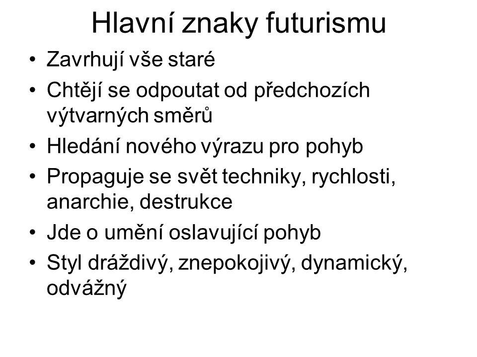 Hlavní znaky futurismu