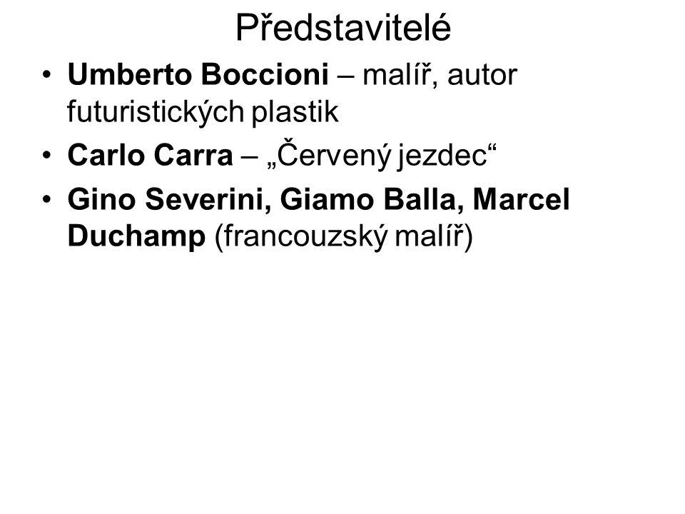 Představitelé Umberto Boccioni – malíř, autor futuristických plastik