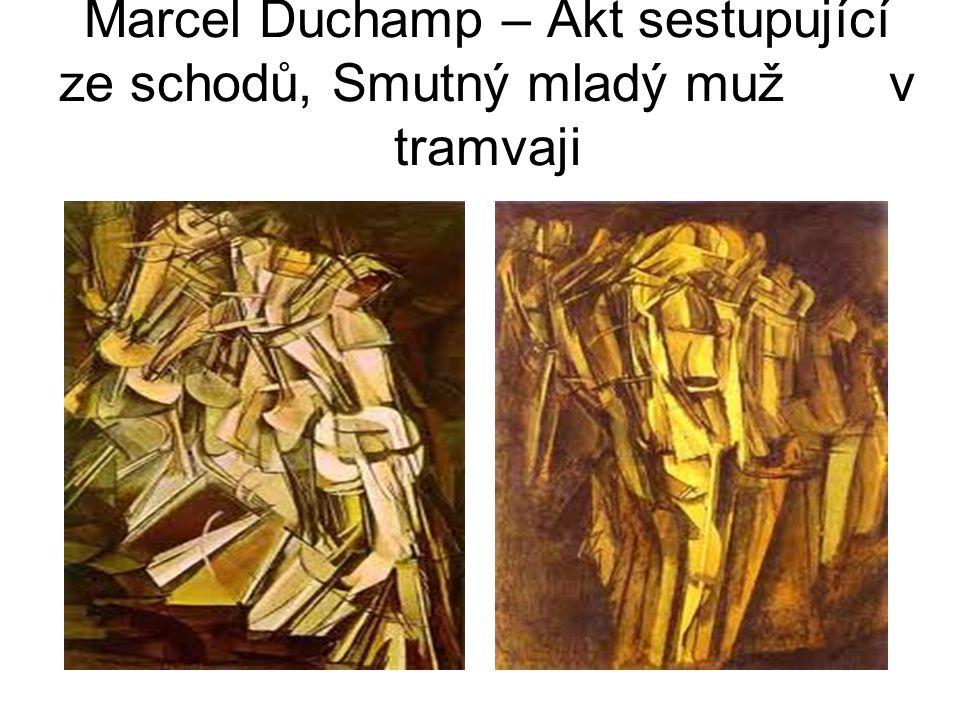 Marcel Duchamp – Akt sestupující ze schodů, Smutný mladý muž v tramvaji