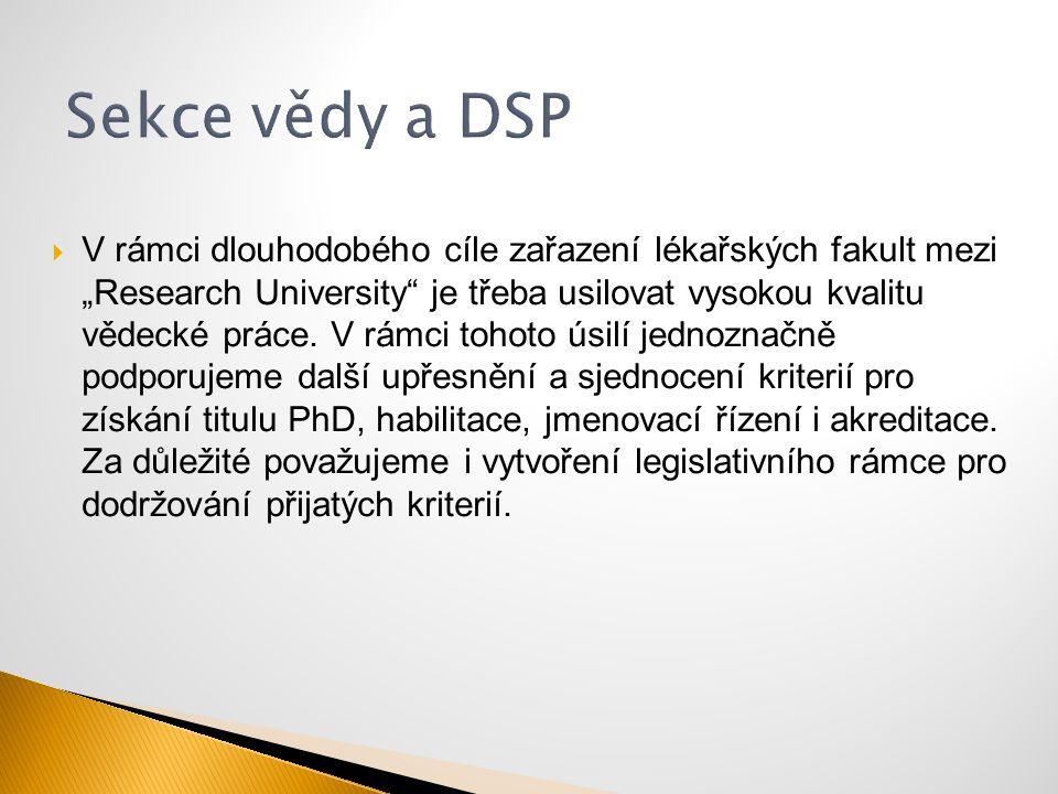 Sekce vědy a DSP