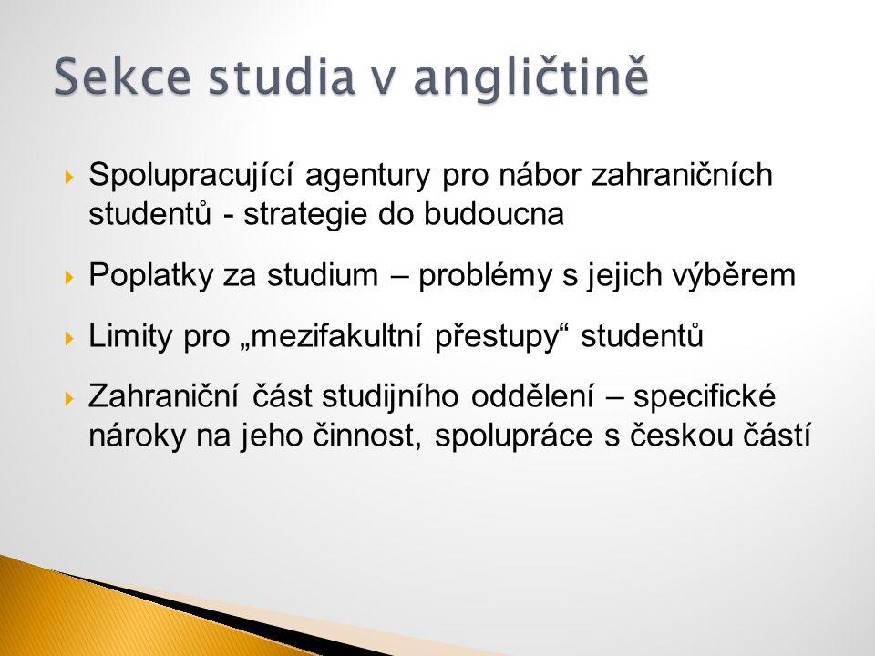Sekce studia v angličtině