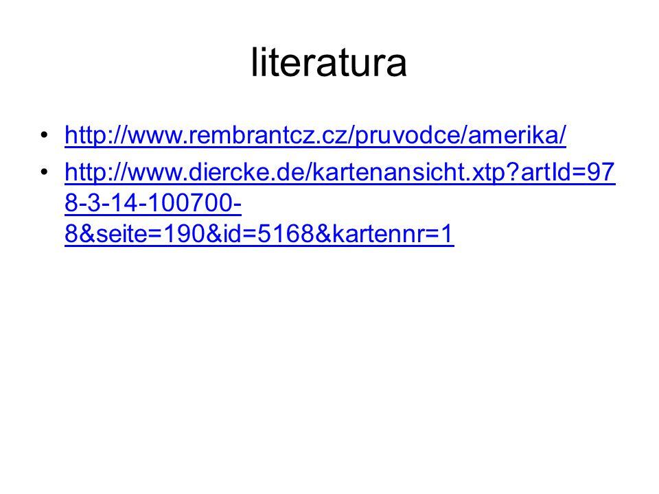 literatura http://www.rembrantcz.cz/pruvodce/amerika/