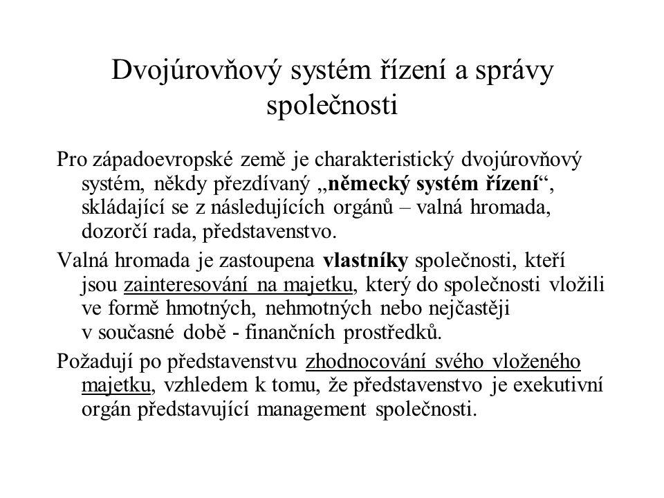Dvojúrovňový systém řízení a správy společnosti