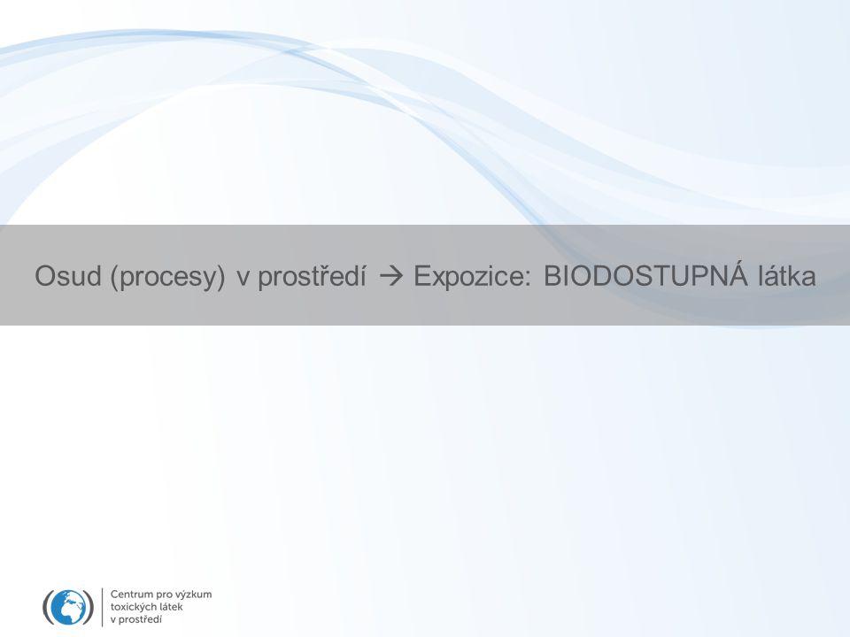 Osud (procesy) v prostředí  Expozice: BIODOSTUPNÁ látka