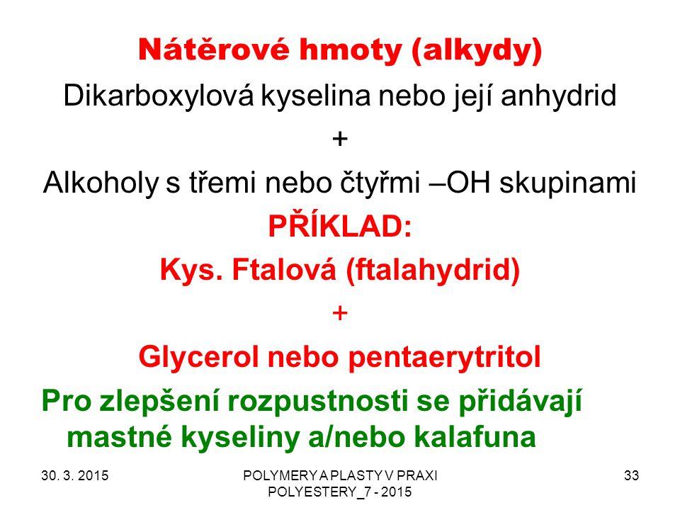 Nátěrové hmoty (alkydy)