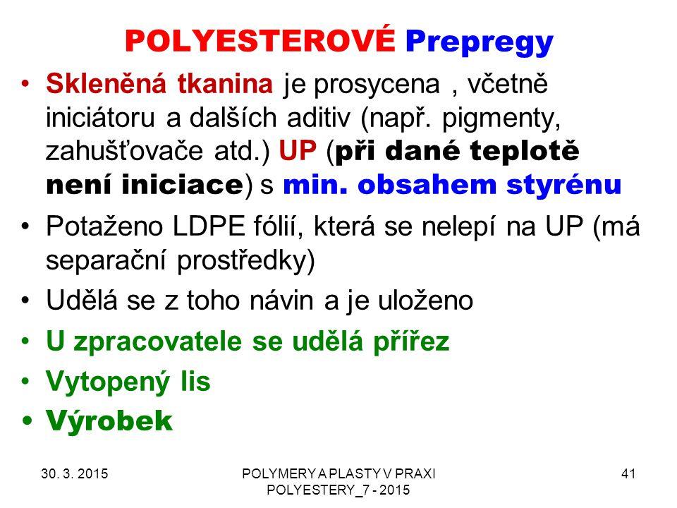 POLYESTEROVÉ Prepregy