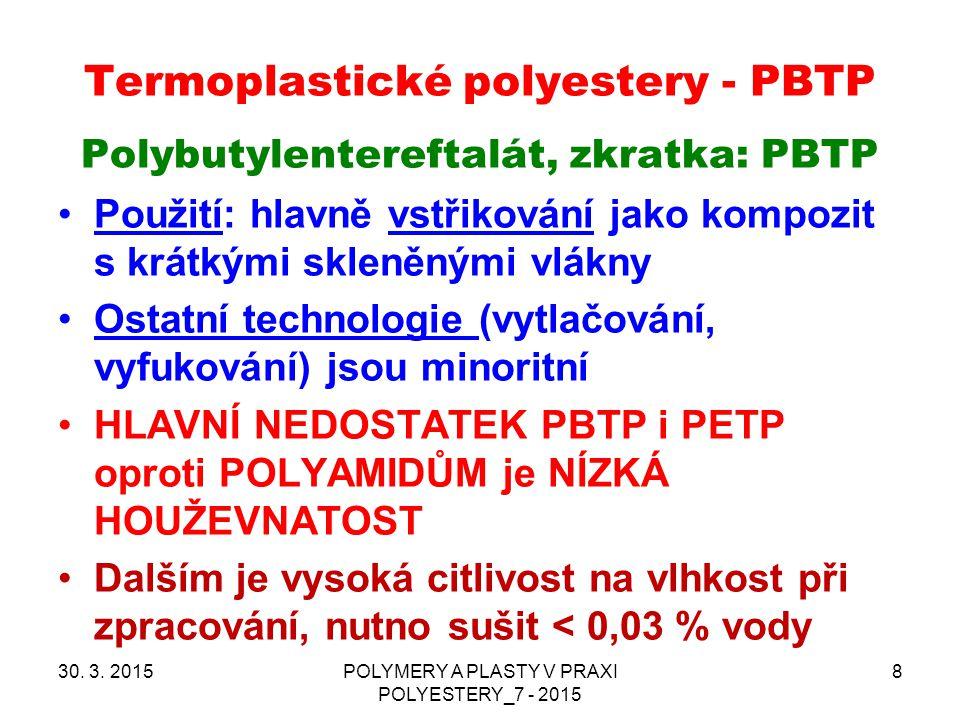 Termoplastické polyestery - PBTP