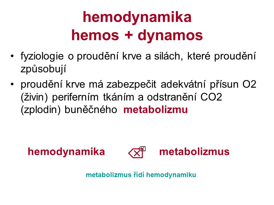 hemodynamika hemos + dynamos