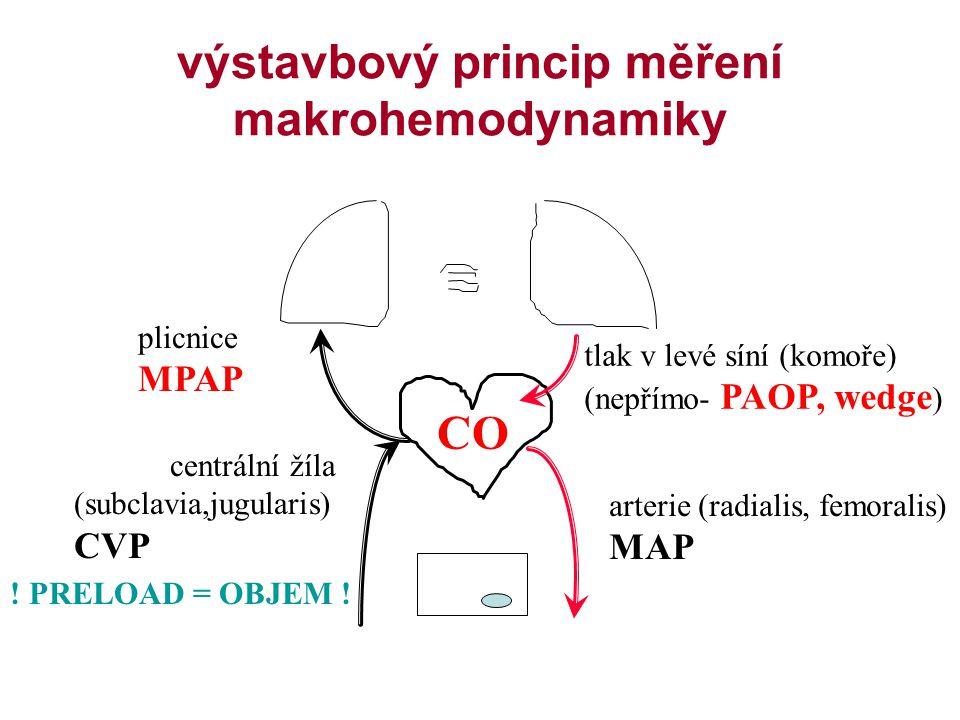 výstavbový princip měření makrohemodynamiky