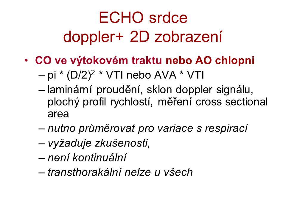 ECHO srdce doppler+ 2D zobrazení