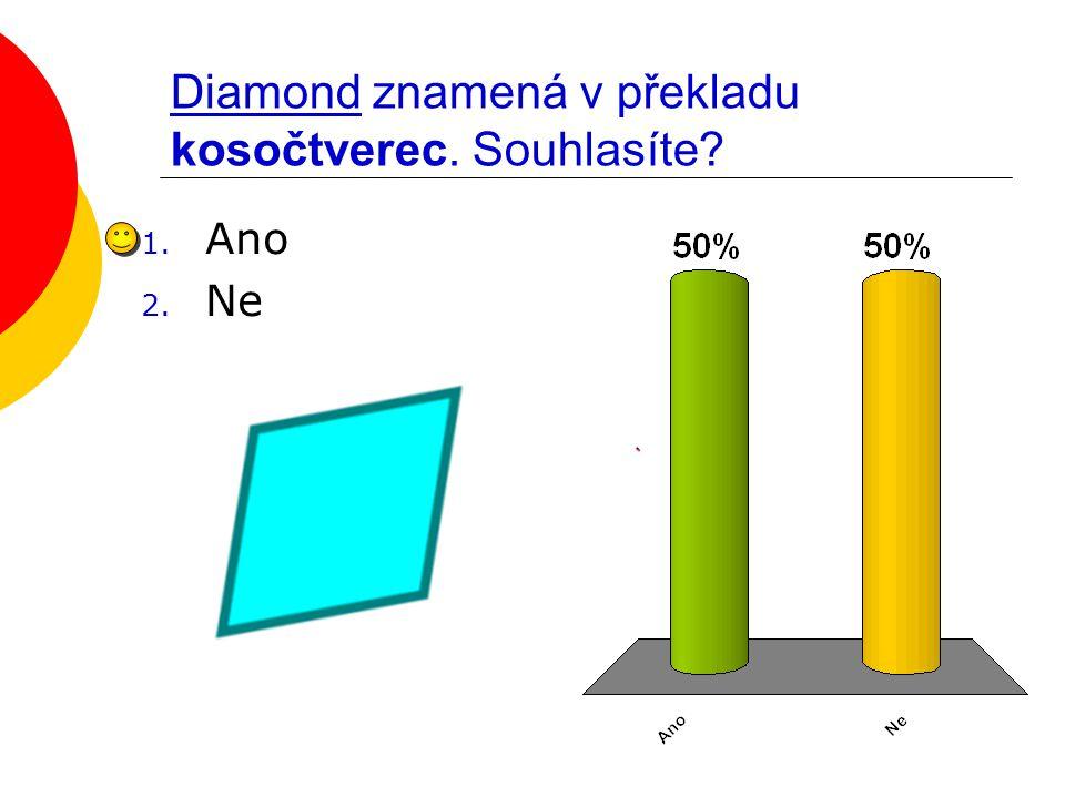 Diamond znamená v překladu kosočtverec. Souhlasíte