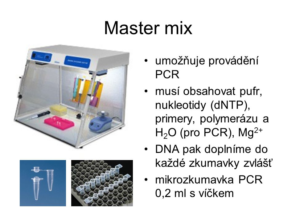 Master mix umožňuje provádění PCR
