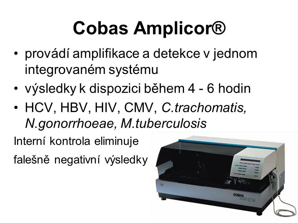 Cobas Amplicor® provádí amplifikace a detekce v jednom integrovaném systému. výsledky k dispozici během 4 - 6 hodin.
