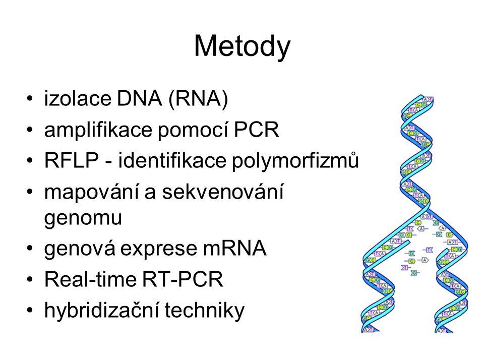 Metody izolace DNA (RNA) amplifikace pomocí PCR