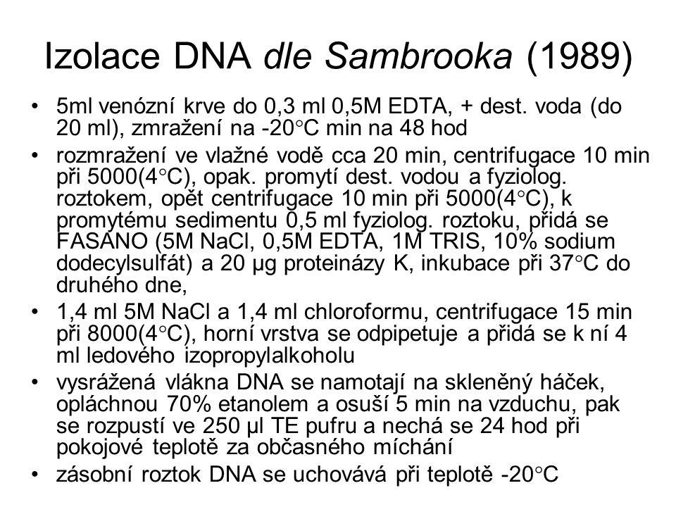 Izolace DNA dle Sambrooka (1989)