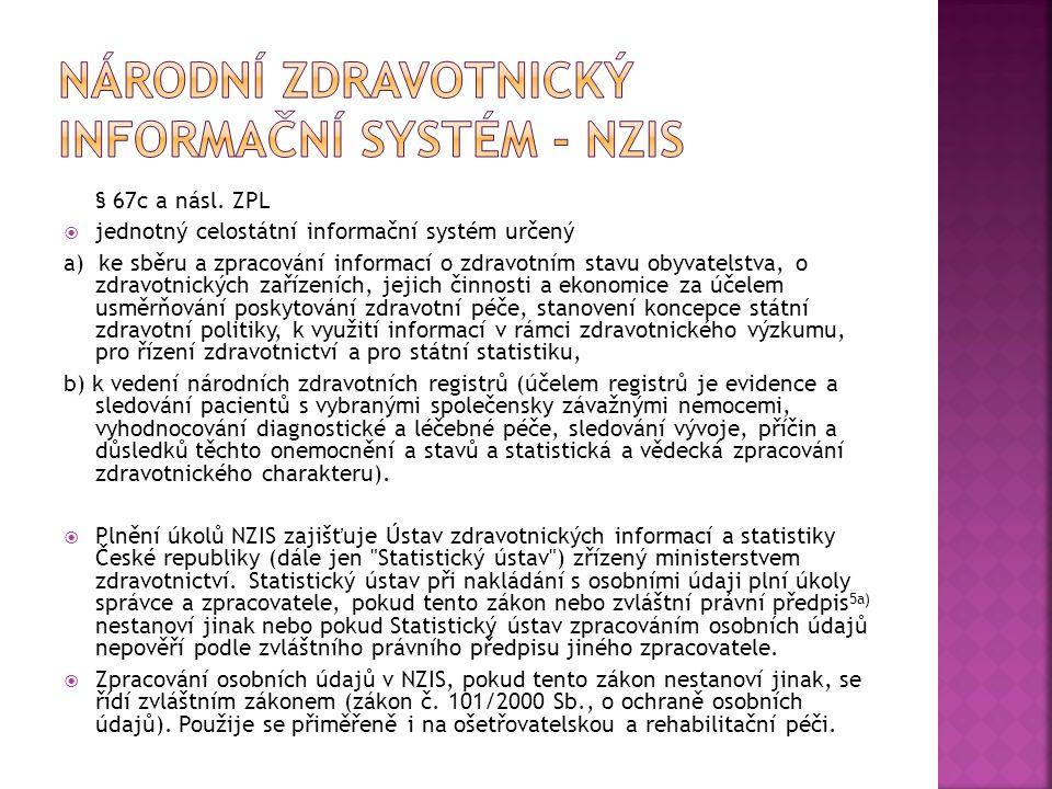 Národní zdravotnický informační systém - NZIS