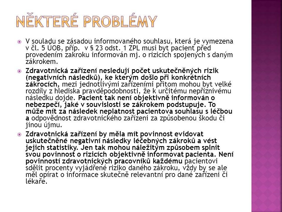 Některé problémy