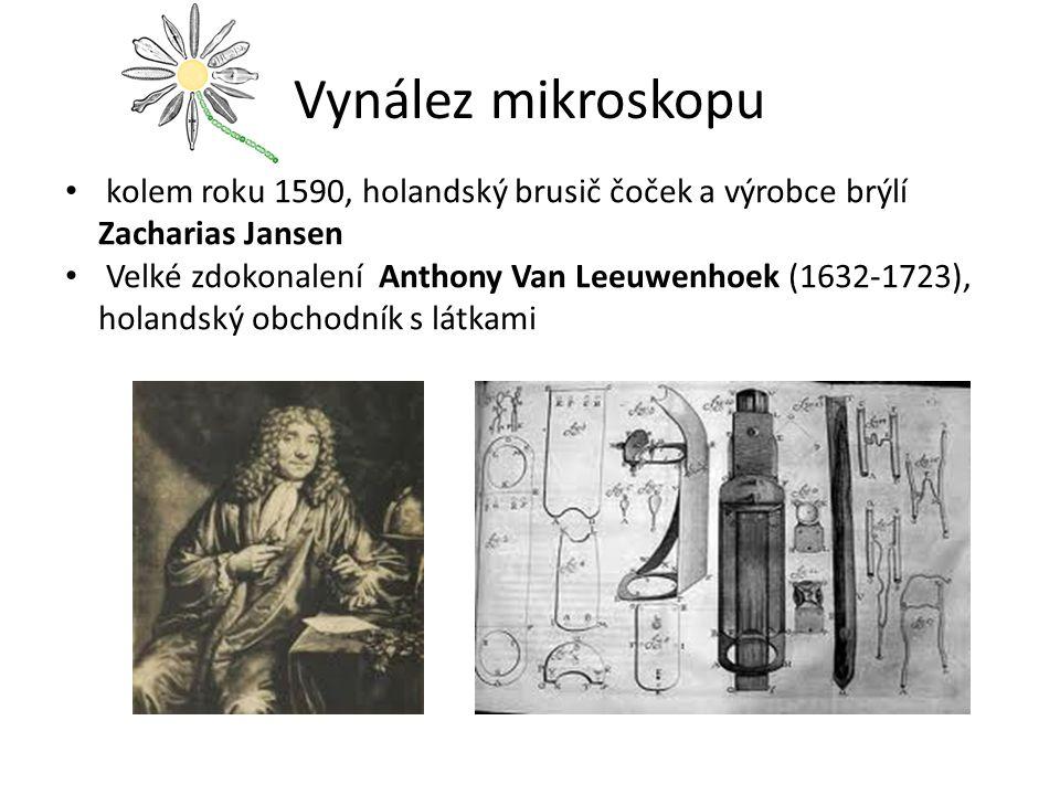 Vynález mikroskopu kolem roku 1590, holandský brusič čoček a výrobce brýlí Zacharias Jansen.