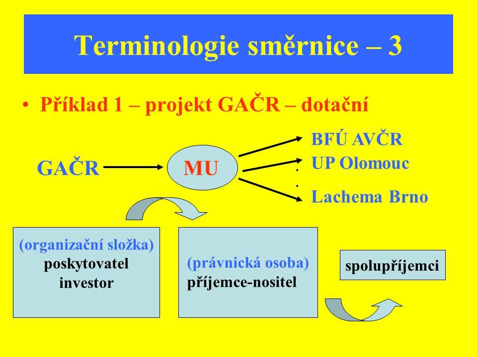 Terminologie směrnice – 3