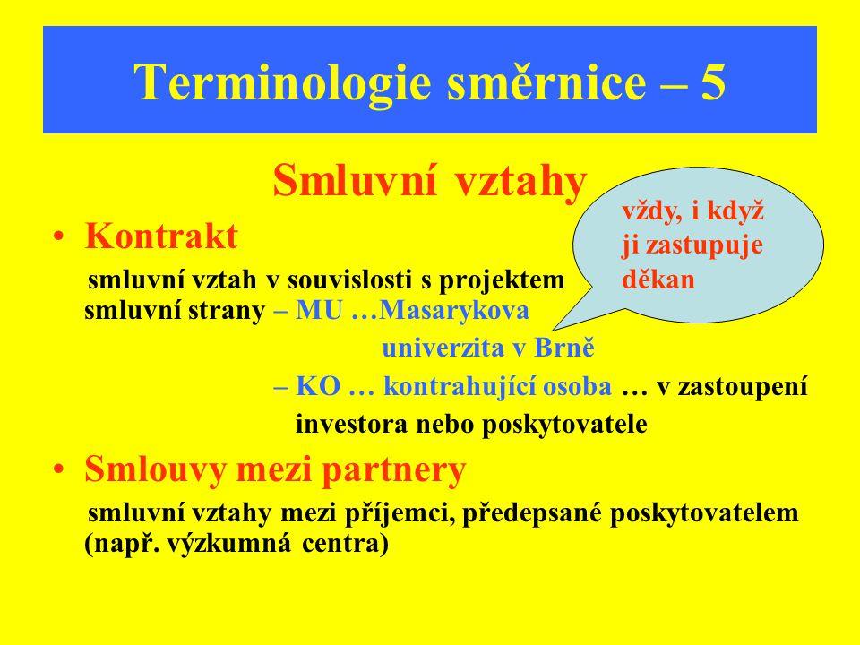 Terminologie směrnice – 5