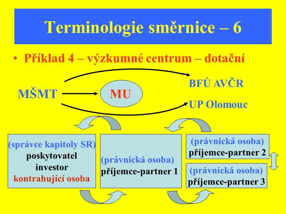 Terminologie směrnice – 6